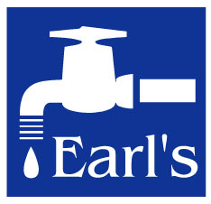 Earls logo with white border